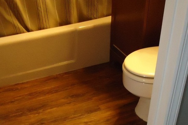 install laminate flooring at toilet and bathroom