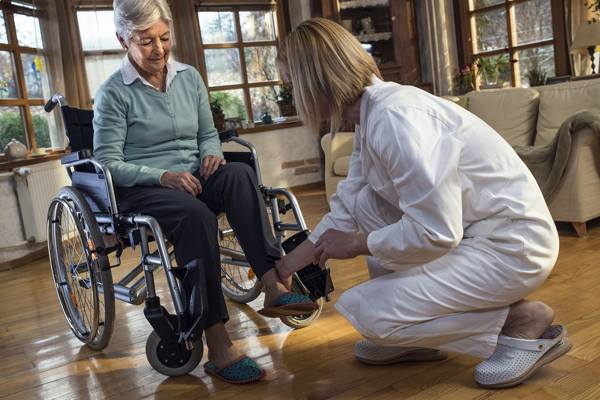 laminate flooring at nursing home for senior citizens