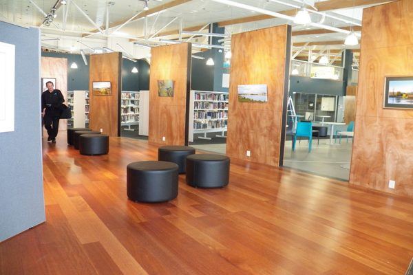 School library with laminate flooring