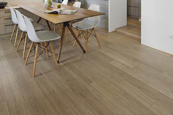Install vinyl flooring for dining area