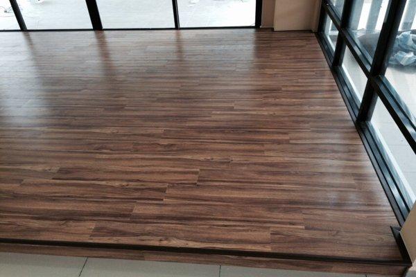 vinyl flooring at old folks home