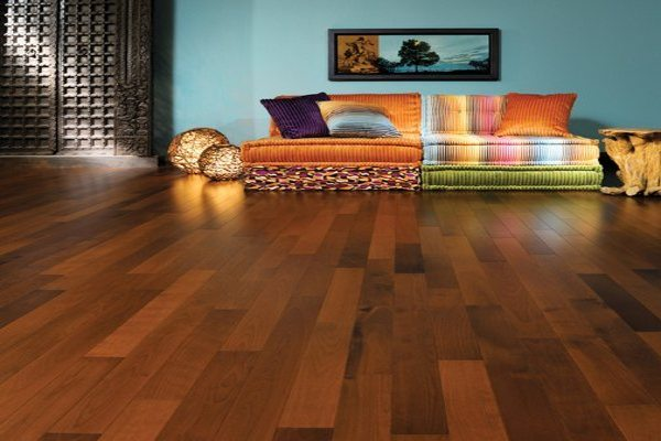 Brown vinyl flooring for living room